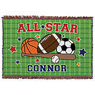 All Star Personalized Throw Blanket