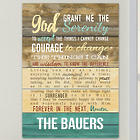 Personalized Serenity Prayer Wall Sign