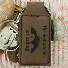 The Mountains are Calling Personalized Leather Key Chain