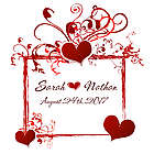 Personalized Heart Frame Floor Decal