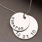 Mother's Personalized Stacking Discs Necklace