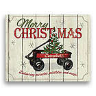 Christmas Wagon Personalized Canvas