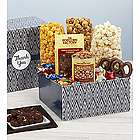 Simply Stated Thank You Popcorn and Snack Gift Box