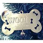 Gold Tone Engraved Doggie Bone Ornament
