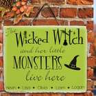 Halloween Witch Personalized Slate Plaque