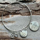 Personalized Retired Adjustable Wire Bangle Bracelet