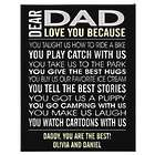 Personalized 10 Reasons Loved Black 11x14 Canvas Print