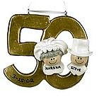Personalized Golden Anniversary Christmas Ornament
