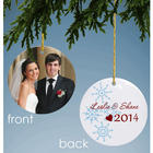 Romantic Snowflakes Personalized Photo Ornament