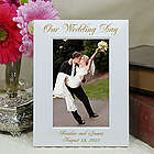Engraved Wedding Day White Picture Frame