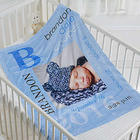 All About Baby Boy Personalized Photo Fleece Blanket