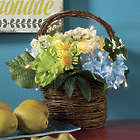 Lighted Hyndrangea Basket