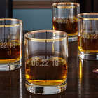 Better Together Custom Gold Rim Rocks Glasses