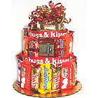 Naughty or Nice Candy Bar Cake