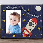 Personalized To the Moon and Back Photo Frame
