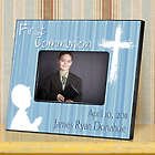 Hear My Prayer Blue First Communion Personalized Photo Frame