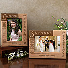 Personalized Junior Bridesmaid Poem Wooden Picture Frame