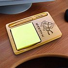 Personalized Karate/Martial Arts Wooden Notepad & Pen Holder
