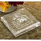 Personalized Flower Paperweight