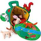 Apple House Carrier with Plush Woodland Critters