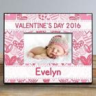 Personalized Pink Hearts Photo Frame