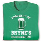 Property of the Personalized Irish Drinking Team T-Shirt