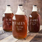 Personalized Fill. Drink. Repeat. Craft Beer Growler