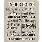 Personalized We Count Our Blessings Tan Blanket