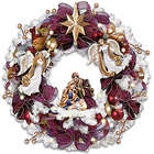 Thomas Kinkade Christmas Blessings Illuminated Wreath with Angels