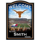 Personalized Texas Longhorns Wooden Welcome Sign