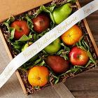 Organic 9-Piece Fruit Box with Personalized Ribbon