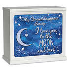 Granddaughter, I Love You to the Moon Illuminated Music Box