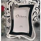 Elegant Black and White 4x6 Wedding Frame Favor