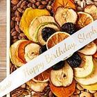 Personalized Ribbon Organic Fruit & Nut Flower Design Gift Box
