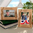 Personalized Patriotic Wooden Picture Frame