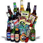 Around the World Beer Bucket with 12 Beers