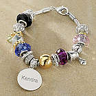 Personalized Two-Tone Charm Bracelet