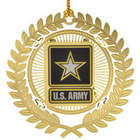 24 Karat Gold-Plated United States Army Emblem Ornament