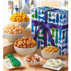 Dad's Snacks and Sweets Gift Box in Plaid & Stripes Pattern