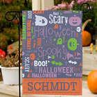 Personalized Halloween Word-Art Garden Flag