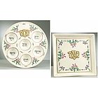 Passover Elegance Seder and Matza Plate Set
