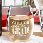 Engraved Graduation Wine Glass