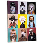 Pets Rock as Celebrities Collage Canvas Giclée Print
