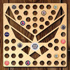 Air Force Wings Beer Cap Map with Color Medallion