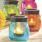 4 Glass Mason Jar Tealights
