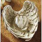 Hope Angel Worry Stone with Wing Holder