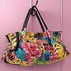 Floral Italian Leather Handbag