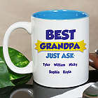 Personalized Best Grandparent Just Ask Mug
