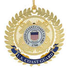 Gold-Plated United States Coast Guard Emblem Ornament