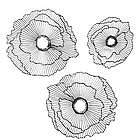 3 Floating Flowers Metal Wall Decor